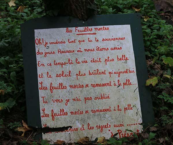 Jardin En Hommage à Jacques Prévert à St Germain Des Vaux